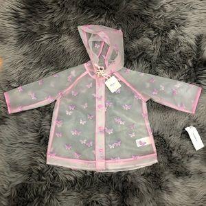 Hatley | Girls Clear Butterfly Raincoat